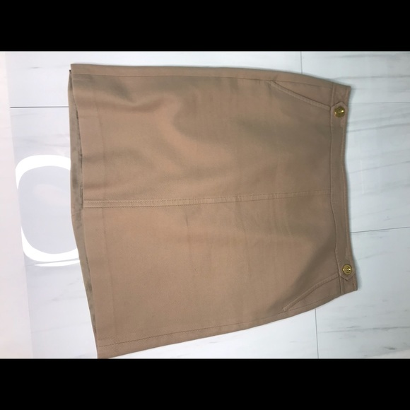 Tan textured skirt